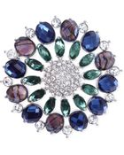 Jones New York Silver-Tone Crystal And Jewel Cluster Pin - Lyst