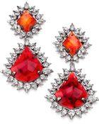 DANNIJO Carrie Crystal Drop Earrings - Lyst