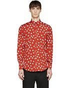 Dolce & Gabbana Red Polka Dot Shirt - Lyst