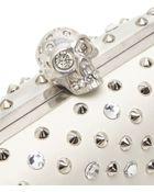 Alexander McQueen Stud & Crystal Skull-Clasp Clutch Bag - Lyst
