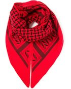Lala Berlin Triangle Printed Knit Scarf - Lyst