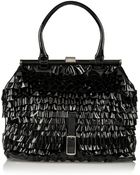 Valentino Ruffled Patent-Leather Shoulder Bag - Lyst