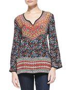 Tolani Monika Printed Silk Tunic - Lyst