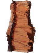 Lanvin Strapless Draped Dress - Lyst