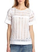 Rebecca Taylor Voile Eyelet Top - Lyst