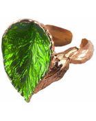 Vernissage Autumn Leaf Ring - Lyst