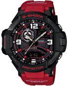 G-Shock Men'S Analog-Digital Red Resin Strap Watch 51X52Mm Ga1000-4B - Lyst