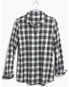 Madewell Flannel Boyshirt In Edgewood Plaid - Lyst
