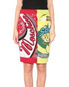 Moschino Jacquard Wool Drink Skirt - Lyst