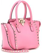 Valentino Rockstud Mini Leather Shoulder Bag - Lyst
