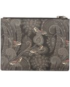 Givenchy Black Paisley Print Pouch - Lyst