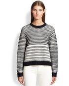 Proenza Schouler Float-Stitch Crewneck Sweater - Lyst