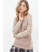 Forever 21 Marled Crew Neck Sweater - Lyst