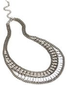 Forever 21 Rhinestoned Collar Necklace - Lyst