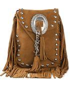 Saint Laurent Anita Leather Shoulder Bag - Lyst