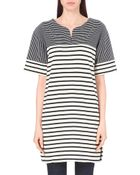 MiH Jeans Contrast Stripe Pattern Tunic - Lyst