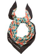 Marc By Marc Jacobs Printed Cotton-Silk Scarf - Lyst