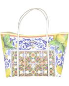 Dolce & Gabbana Dolce&Gabbana Escape Stampa Maioliche Shopping Bag Bicolore - Lyst