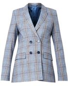 Richard Nicoll Checked Double-Breasted Blazer - Lyst