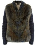Hockley Orchid Fox, Nutria And Suede Jacket - Lyst