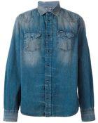 Diesel Paint Splash Washed Denim Shirt - Lyst