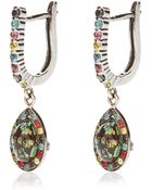 Daniela Villegas Traveler 18k Gold Sapphire Tsavorite and Black Diamond Earrings - Lyst
