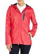 Emporio Armani Rainproof Hooded Nylon Jacket - Lyst