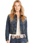 Polo Ralph Lauren Washed Denim Jacket - Lyst
