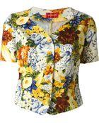 Kenzo Vintage Flower Print Short Sleeved Jacket - Lyst