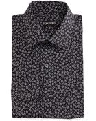 Tom Ford Mini-Floral Print Dress Shirt - Lyst
