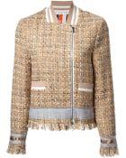 MSGM Band Collar Tweed Jacket - Lyst