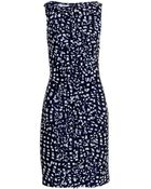 Oscar de la Renta Abstract Grid Silk And Wool-Blend Dress - Lyst