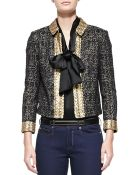 St. John Metallic Eyelash Tweed Jacket - Lyst
