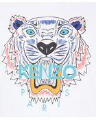 Kenzo White Tiger Cotton T-shirt - Lyst