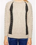Chinti & Parker Chinti & Parker Braid Cable Sweater - Lyst