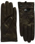 Vince Camuto Pyramid Studded Driving Gloves - Lyst