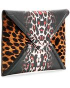 Mcq Alexander Mcqueen Printed Faux-Leather Textured Clutch - Lyst