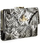 Vivienne Westwood Frilly Snake Trifold Wallet - Lyst