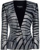Balmain Crystal-Embellished Stretch-Cotton Blazer - Lyst