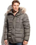 Marc New York Denton Hooded Fur-Collar Down Jacket - Lyst