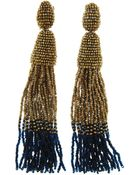 Oscar de la Renta Long Ombre Tassel Earrings - Lyst