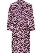 Moschino Cheap & Chic Tiger-Print Silk-Chiffon And Crepe Shirt Dress - Lyst