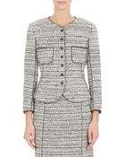 Nina Ricci Tweed Peplum Jacket - Lyst