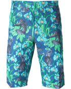 Paul & Joe Floral Print Bermuda Shorts - Lyst