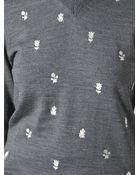 Comme Des Garçons Embroidered Sweater - Lyst