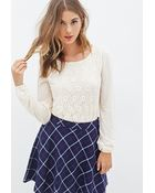 Forever 21 Floral Lace Blouse - Lyst