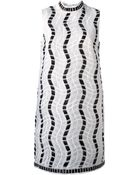 Christopher Kane Embroidered Shift Dress - Lyst