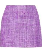 Alice + Olivia Gianna Tweed Mini Skirt - Lyst