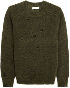 Etoile Isabel Marant Rain Distressed Knitted Sweater - Lyst