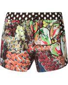 Dolce & Gabbana Fruit Print Swim Shorts - Lyst